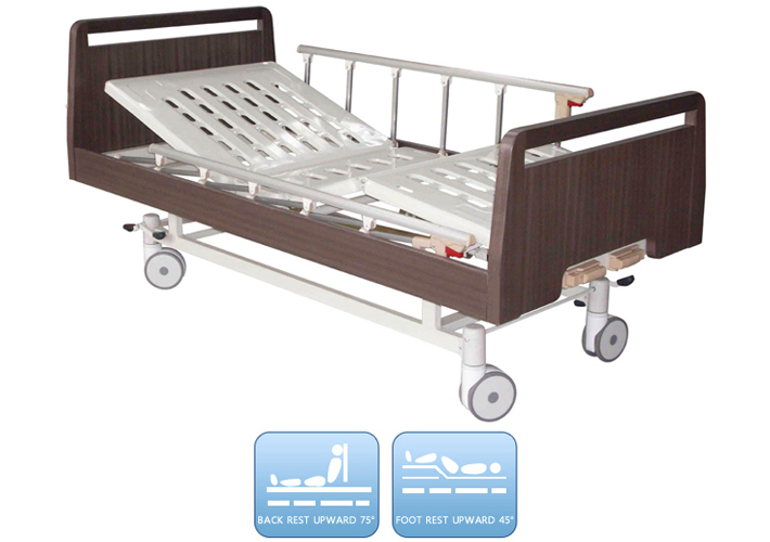 DW-BD186 Manual nursing bed with two functions