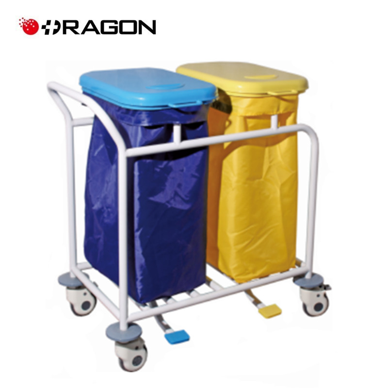 DW-WD02 Double barrel Linen Trolley with Plastic Cover