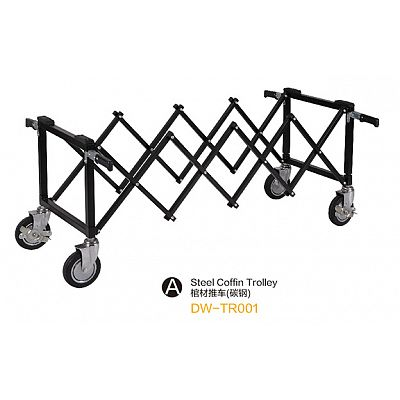 DW-TR001 Steel coffin trolley