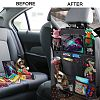 Car Organizer for Kids, ODragon backseat car organizer Kick Mats Back Seat Protectors with Tablet Holder + Storage Pockets for T